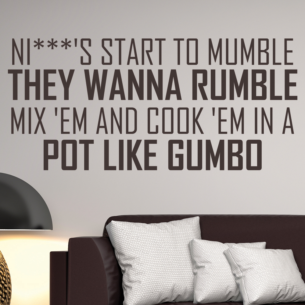 Straight Outta Compton NWA Song Lyrics Wall Stickers Music Décor Art Decals