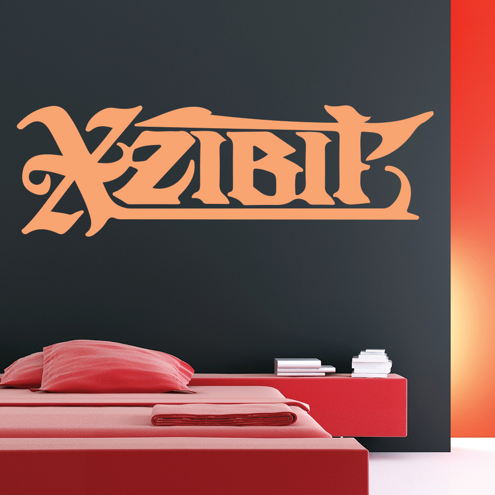 XZIBIT USA Rapper Actor Host Artist Name Logo Wall Sticker Music Décor Art Decal