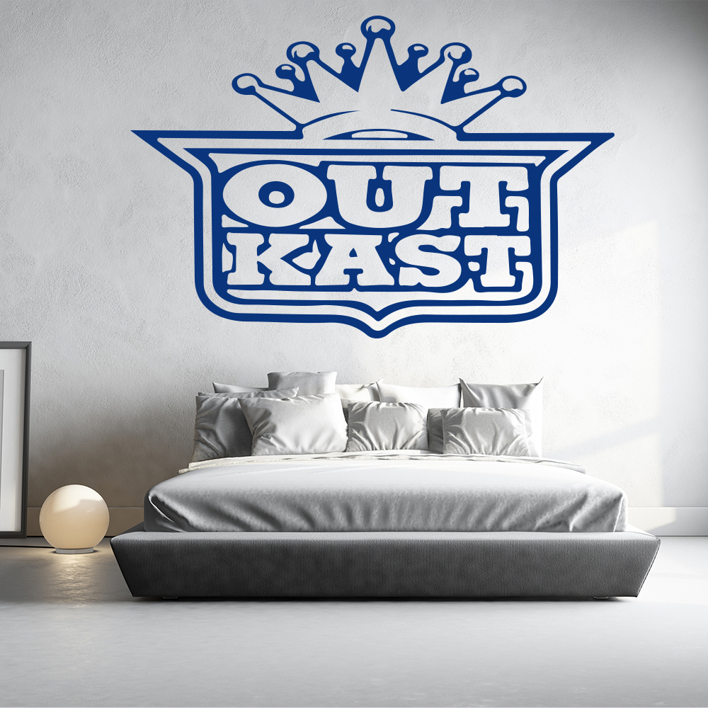 Outkast USA Hip Hop Group Band Name Band Logo Wall Sticker Music Décor Art Decal