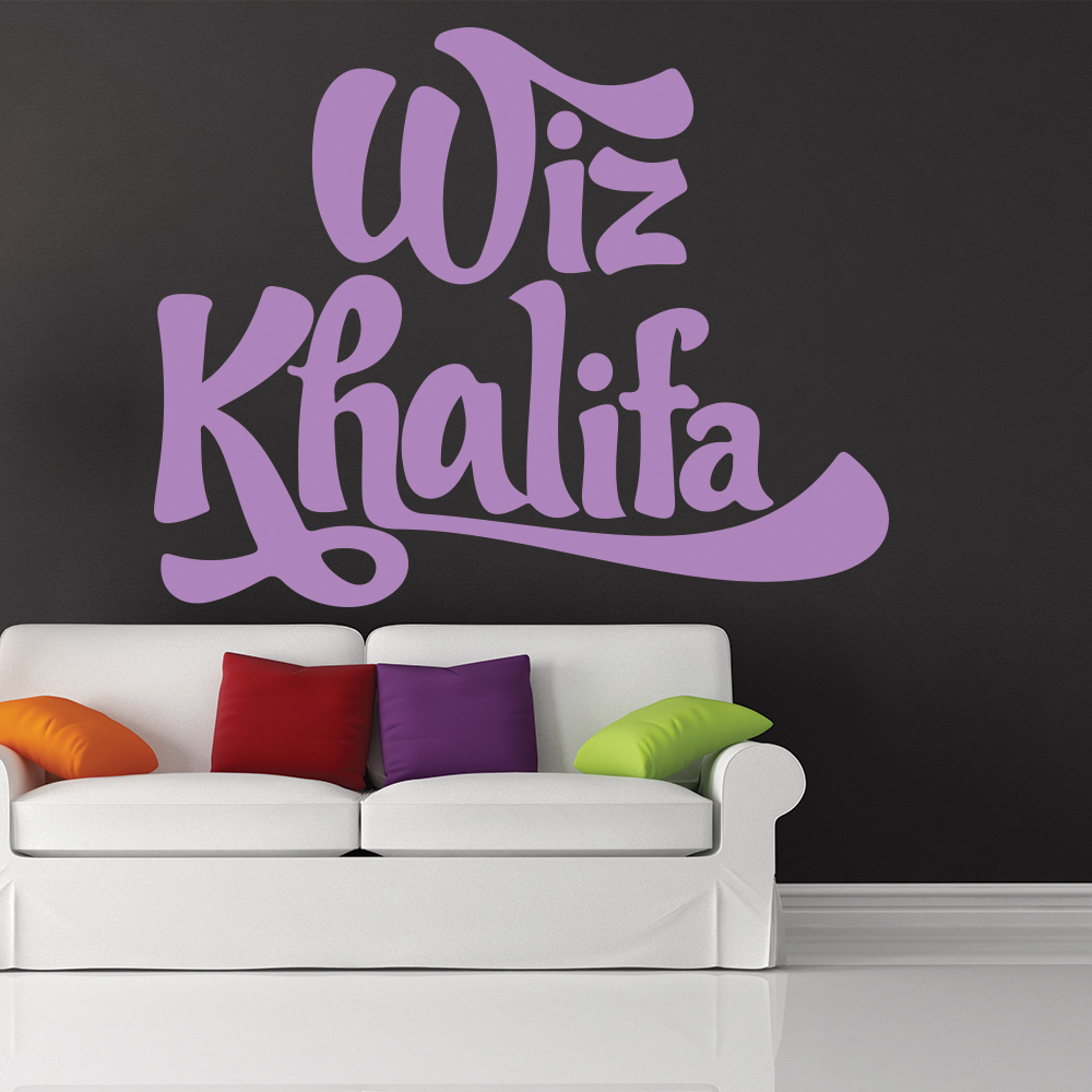 Wiz Khalifa USA Rapper Actor Artist Name Logo Wall Sticker Music Décor Art Decal