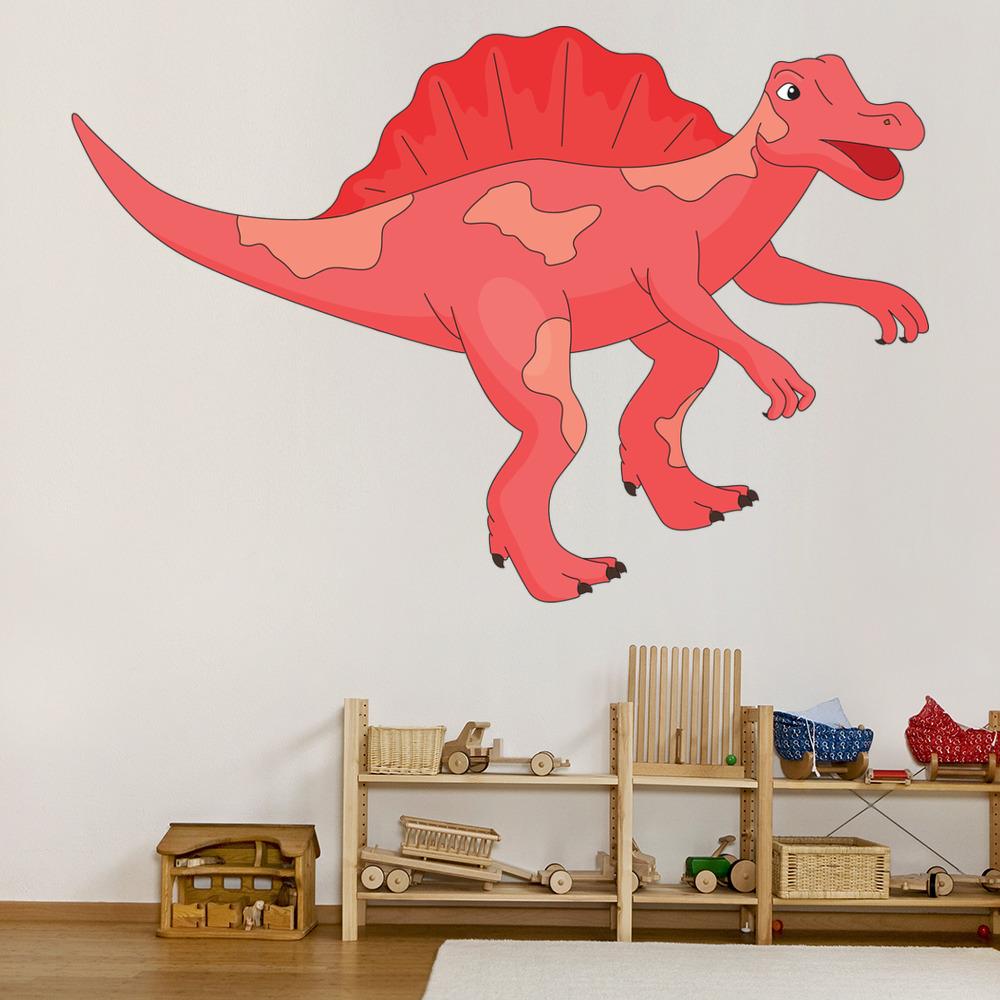Spinosaurus Cartoon Dinosaur Colour Wall Sticker Kids Art Decals Decor