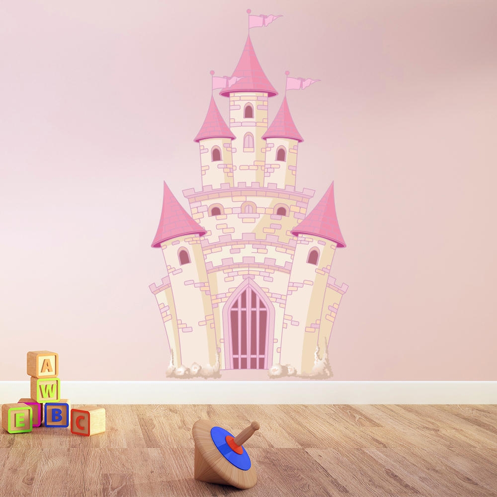 Pink Princess Castle Wall Sticker Fairytale Wall Decal