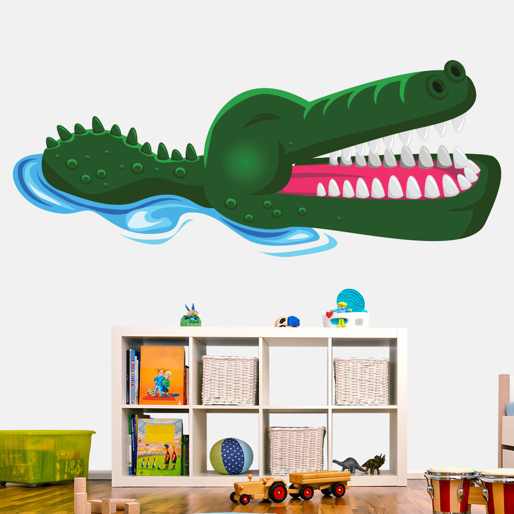 Baby Aligator Fun Animal Colour Wall Sticker kids Art Decals Decor
