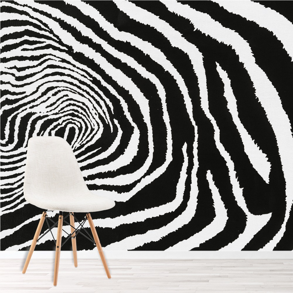 Zebra Print Wild African Animal Wall Mural Abstract Art Photo Wallpaper