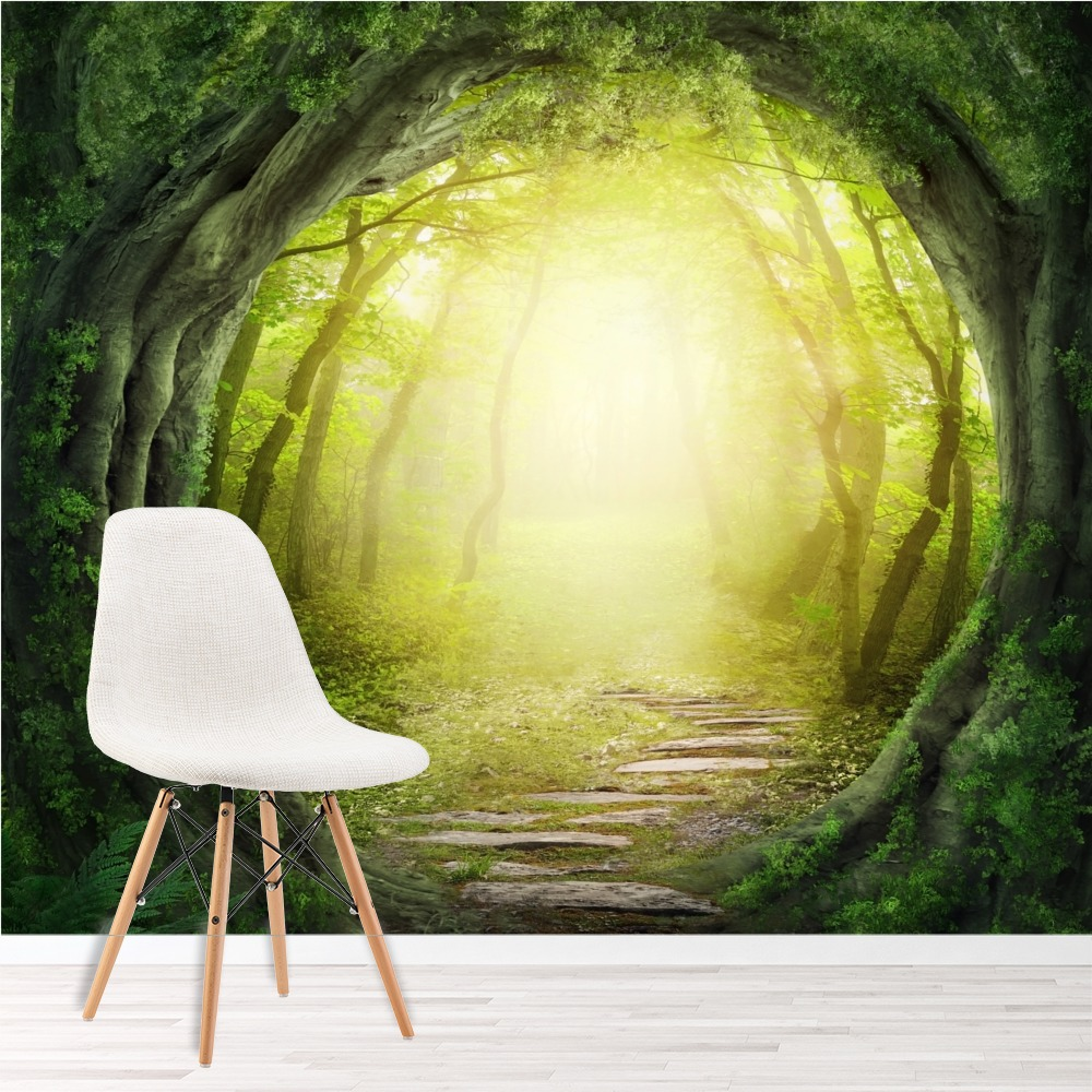 Magic forest wall mural fantasy nature photo wallpaper for Nature wallpaper for bedroom