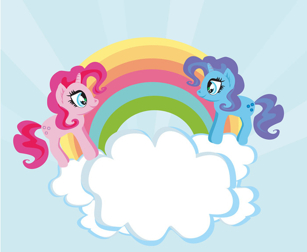 Cloud Amp Rainbow Unicorns Wall Mural Wallpaper