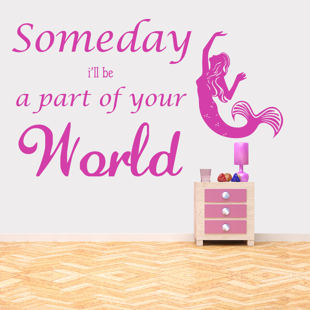 Part Of Your World Ariel The Little Mermaid Wall Stickers Kids Home Art Decals