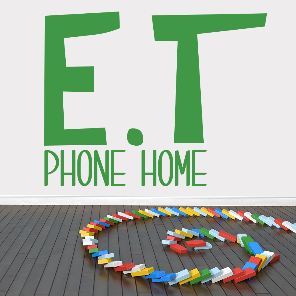 E.T Phone Home E.T Move Quote TV & Film Wall Stickers Home Decor Art Decals