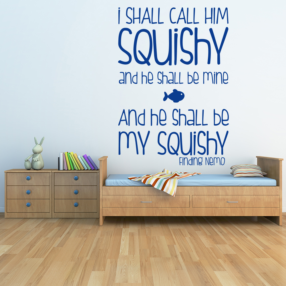 I Shall Call Him Squishy Finding Nemo TV & Film Wall Sticker kids Art Decal