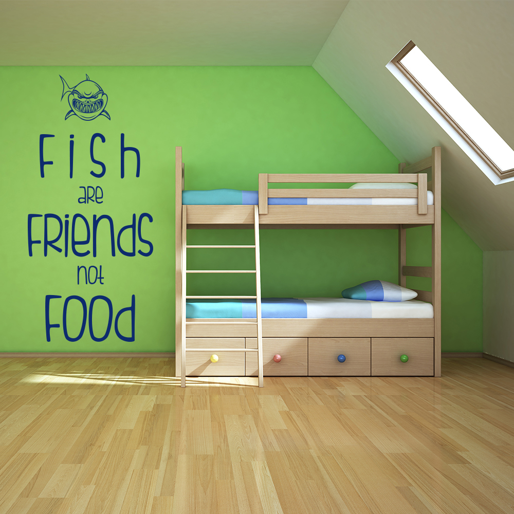 Fish Are Friends Not Food Finding Nemo TV & Film Wall Sticker kids Decals