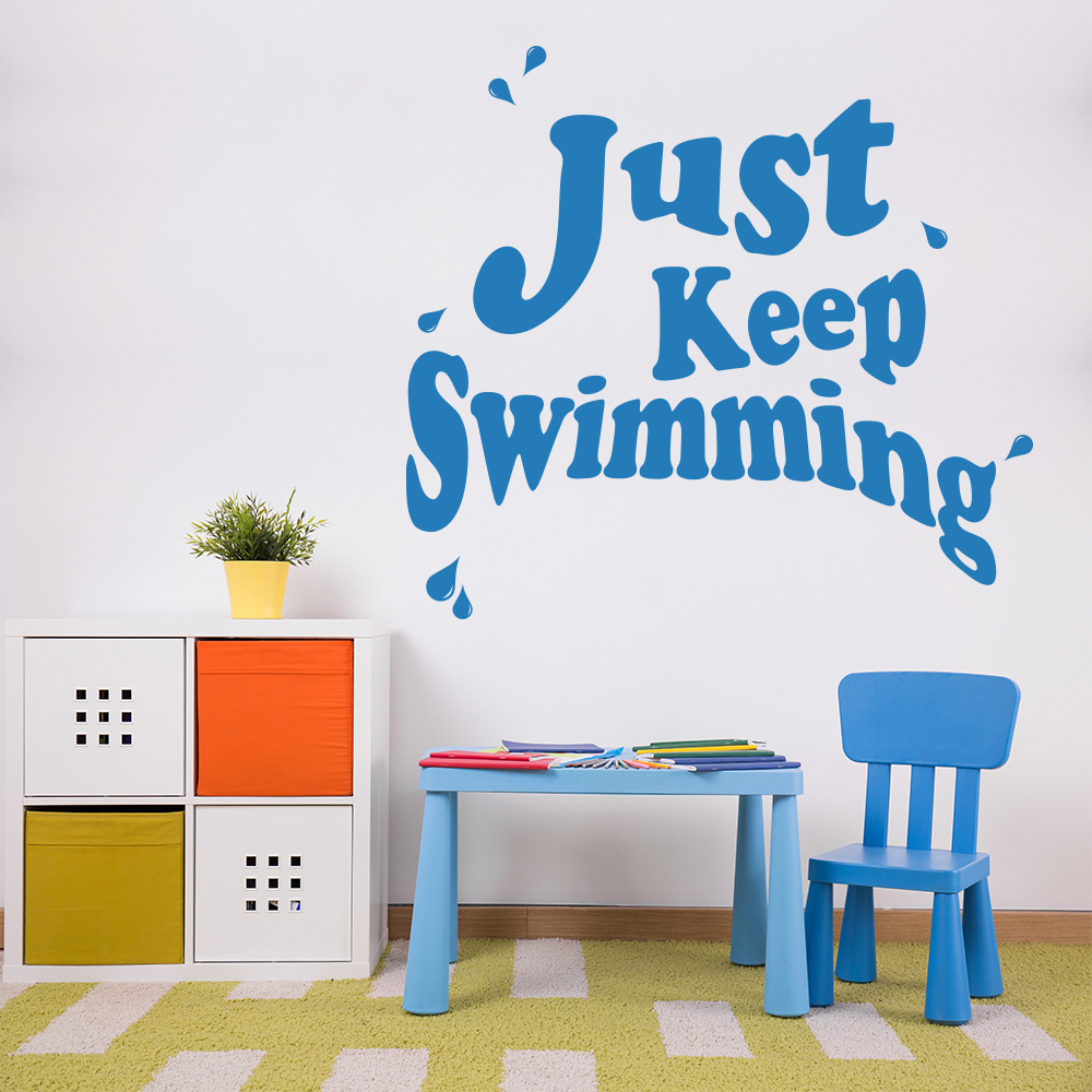 Just Keep Swimming Finding Nemo TV & Film Wall Stickers kids Art Decals
