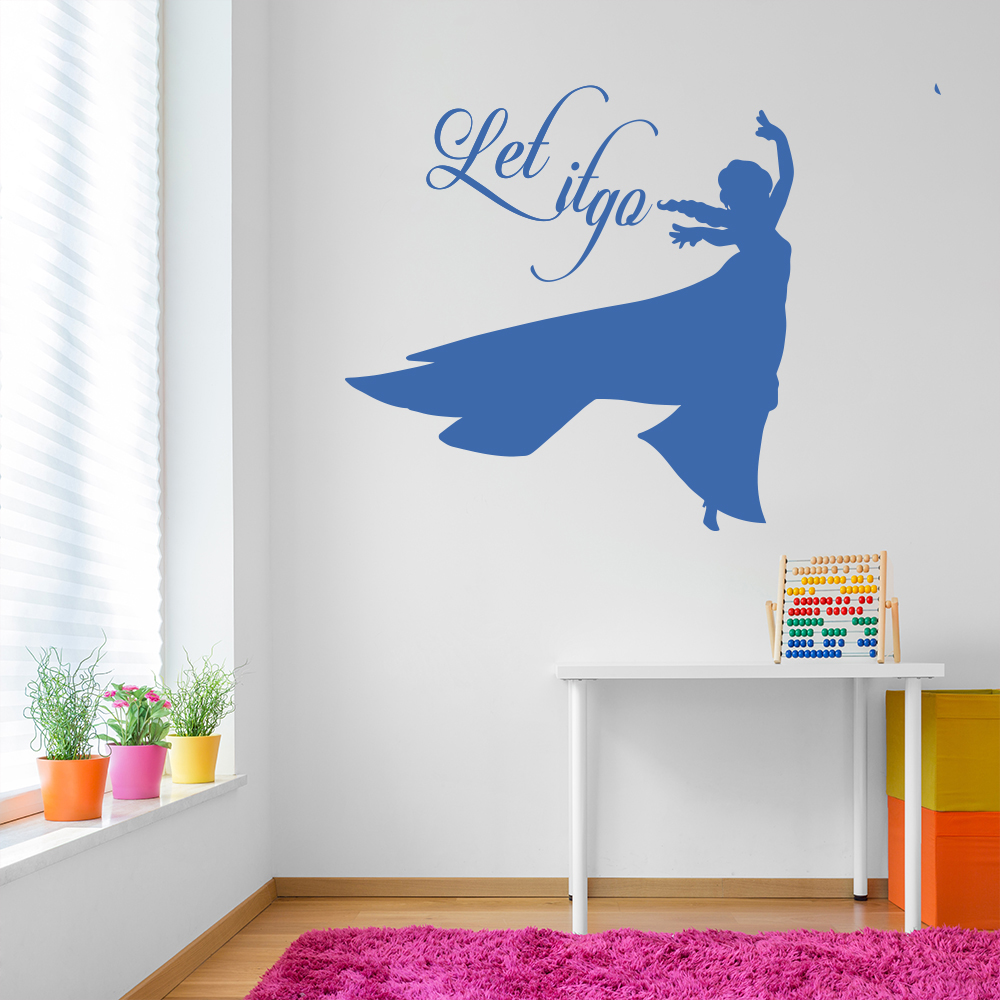 Let It Go - Elsa Frozen TV & Film Wall Stickers kids Home Art Decals