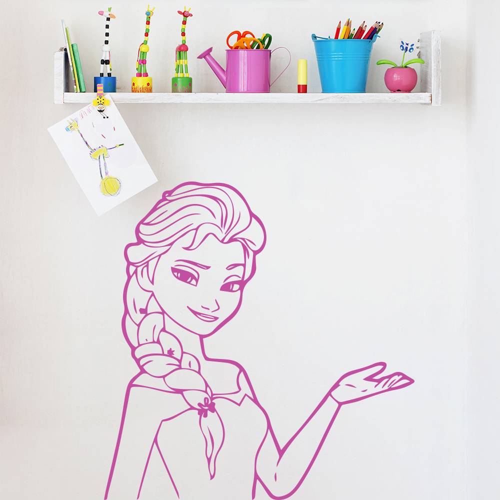 Elsa Portrait Frozen TV & Film Wall Stickers kids Home Art Decals