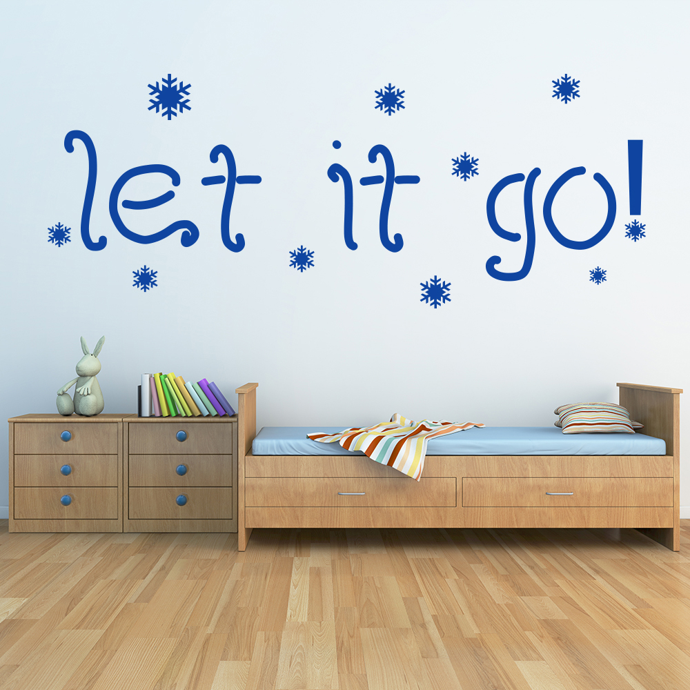 Let It Go! - Frozen Snowflakes TV & Film Wall Stickers kids Art Decals