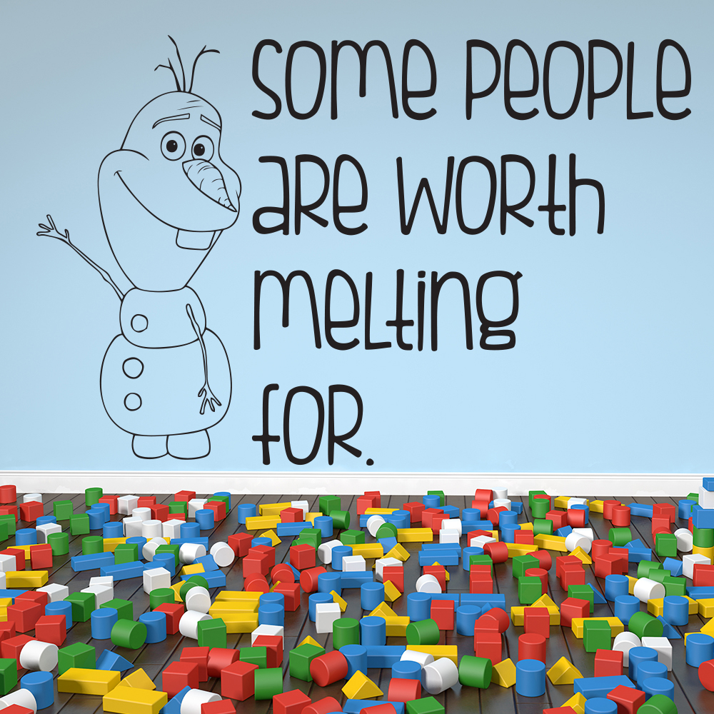 Some People Are Worth Melting For Frozen TV & Film Wall Stickers Kids Art Decals