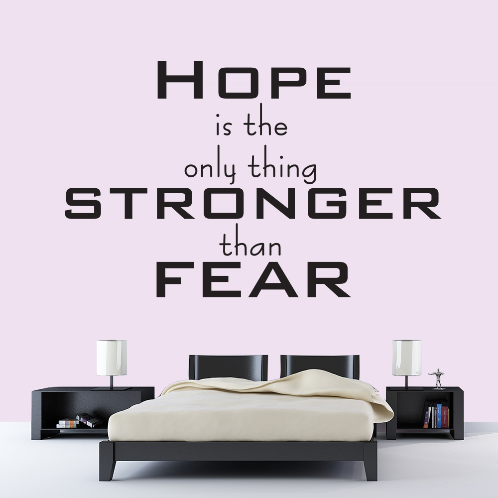 Hope Is Stronger Than Fear The Hunger Games TV & Film Wall Stickers Home Decals