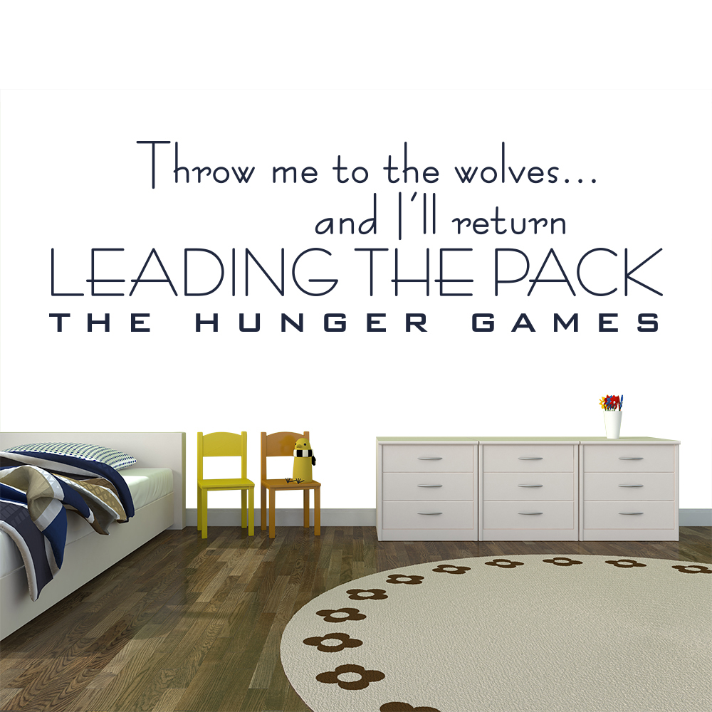 I'll Return Leading The Pack The Hunger Games TV & Film Wall Sticker Home Decals