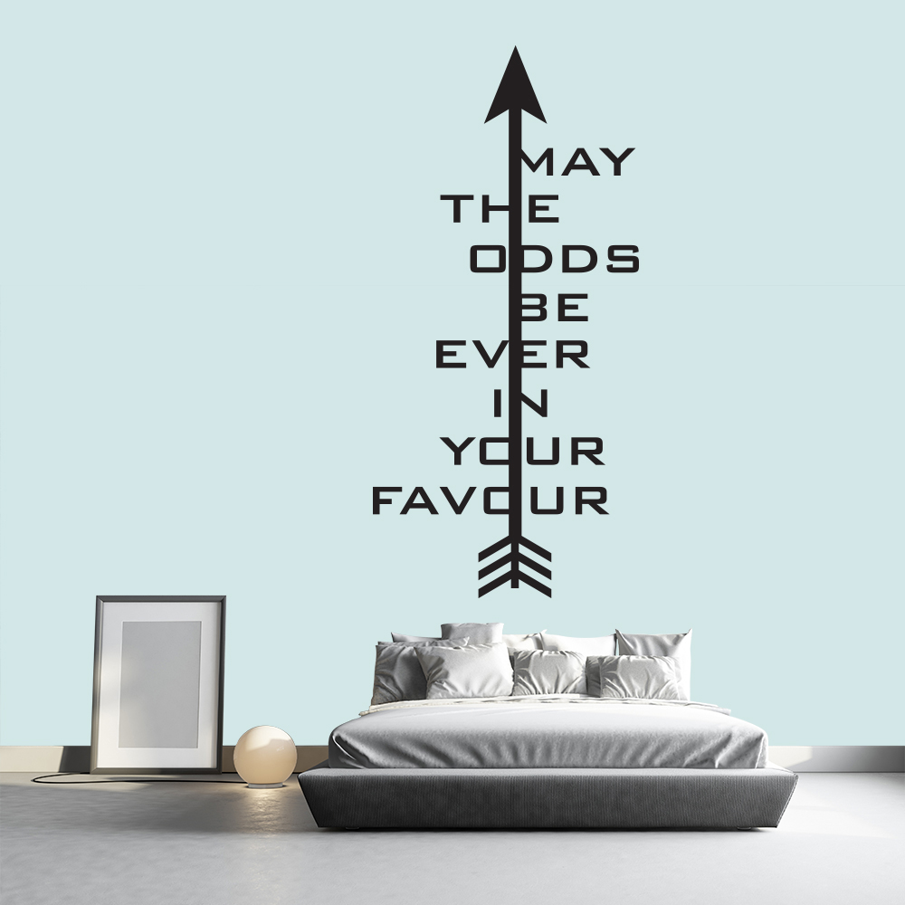 May The Odds Be Ever In Your Favour The Hunger Games Film Wall Sticker Decals