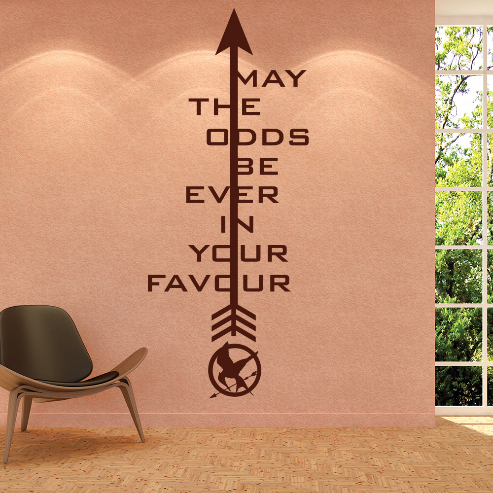 The Hunger Games Logo May The Odds Quote TV & Film Wall Sticker Home Art Decals