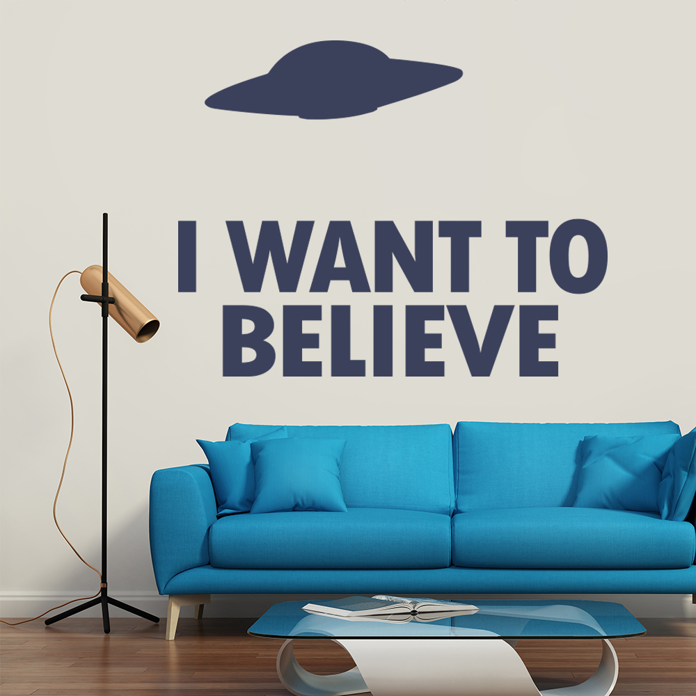 I Want To Believe The X Files TV & Film Wall Stickers Home Decor Art Decals