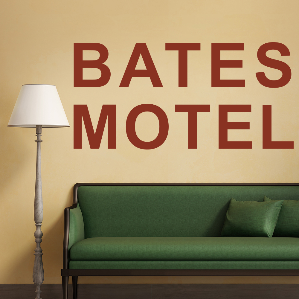 Bates Motel Psycho Prequel TV & Film Wall Stickers Horror Home Decor Art Decals