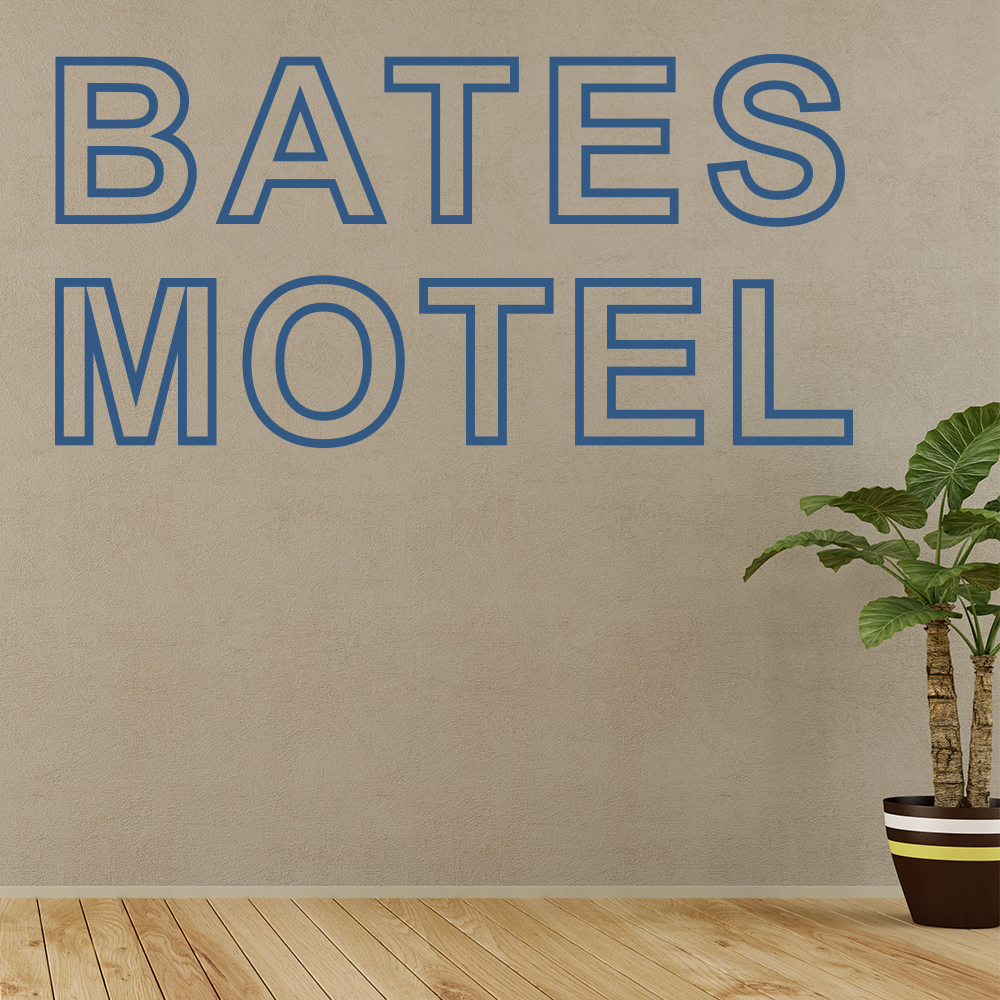 Bates Motel Psycho Prequel Horror TV & Film Wall Stickers Home Decor Art Decals
