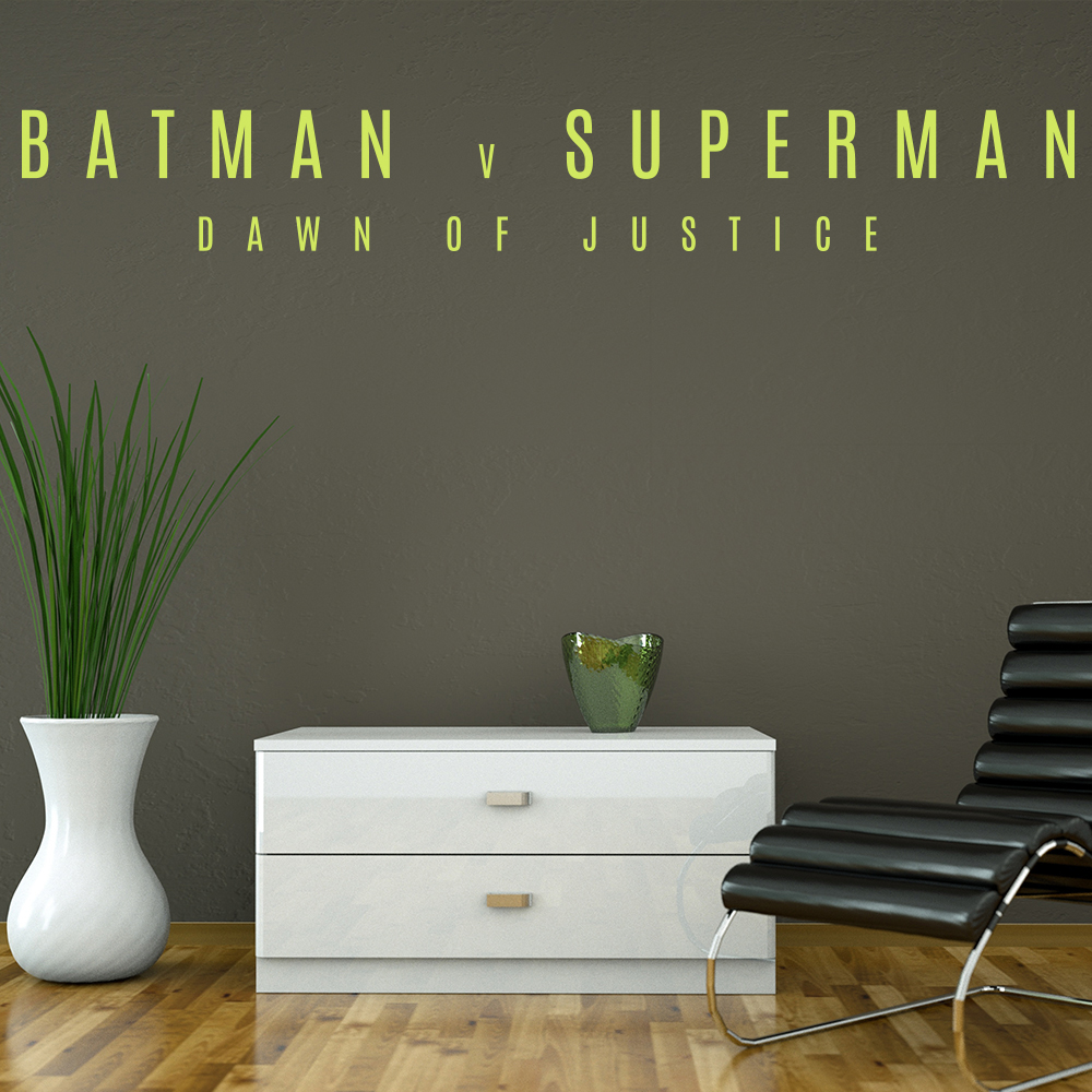 Batman Vs Superman Dawn Of Justice TV & Film Wall Stickers Fantasy Art Decals
