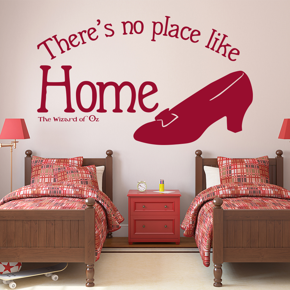 There's No Place Like Home Wizard Of Oz TV & Film Wall Stickers Kids Art Decals