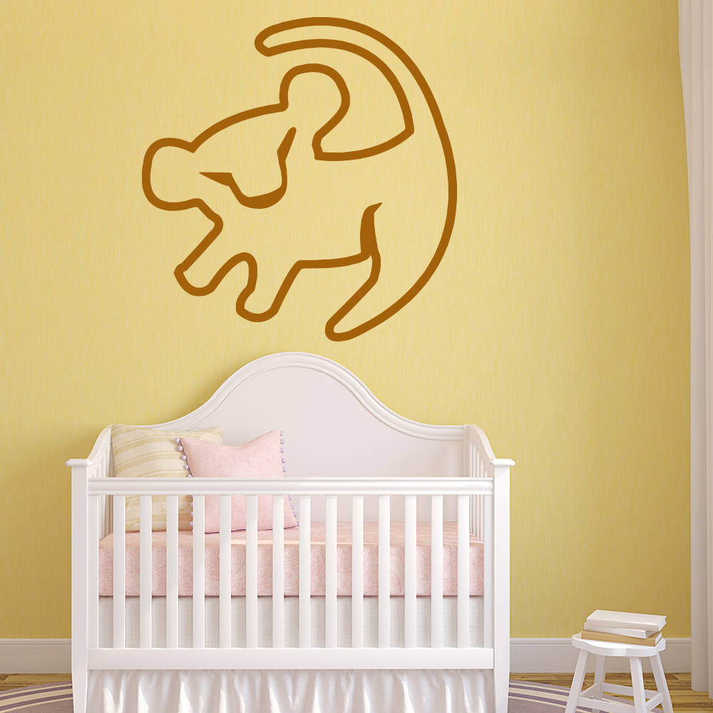 The Lion King Rafiki Simba Sketch TV & Film Wall Stickers kids Art Decals