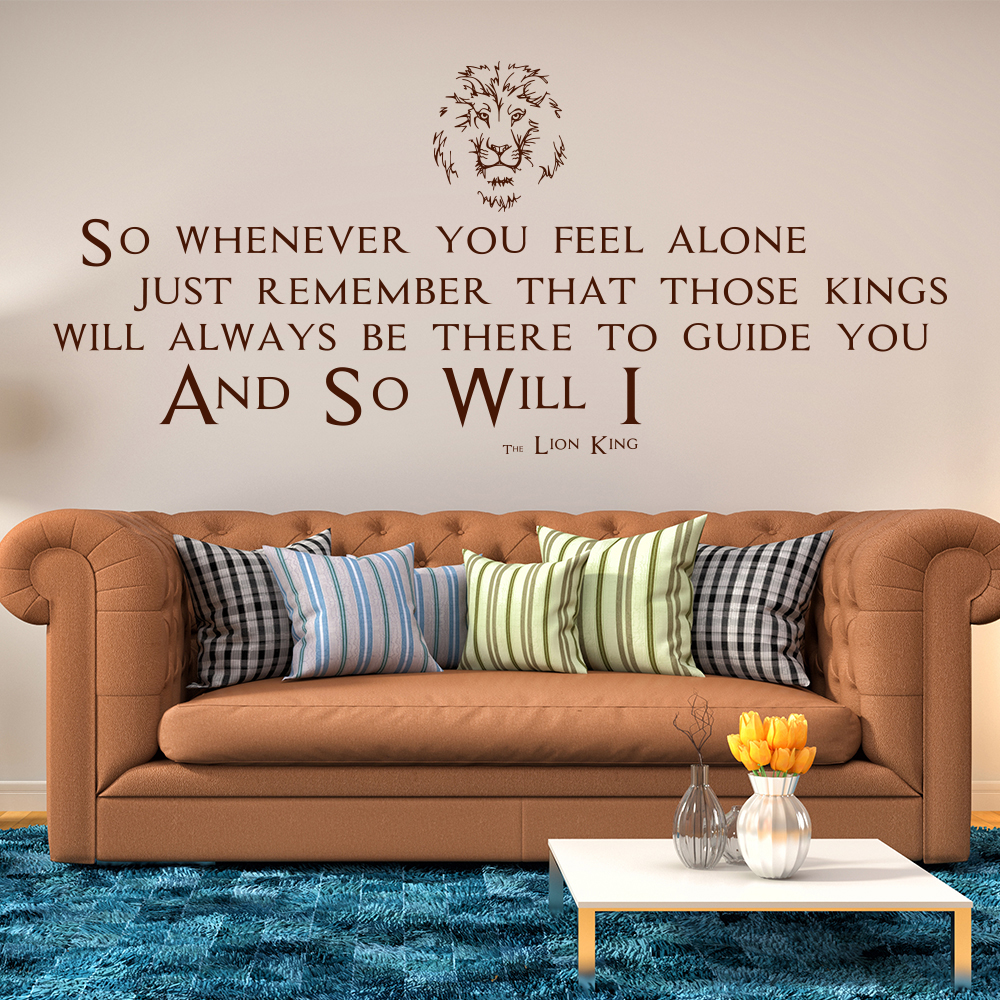 The Lion King Mufasa Quote TV & Film Wall Stickers kids Home Art Decals