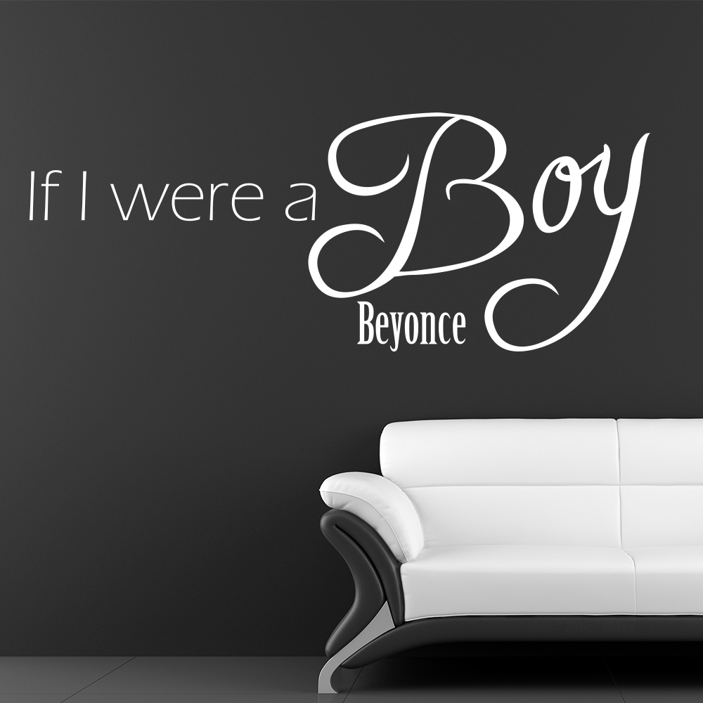 beyonce r b soul song lyrics wall quotes if i were a boy beyonce song lyrics wall sticker home art decals decor