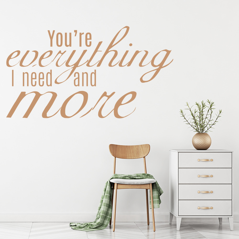 Your Everything I Need, Halo Beyonce Song Lyrics Wall Sticker Home Art Decals