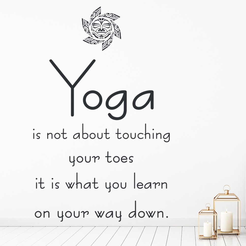 Yoga Is Not About Touching Your Toes Wall Quote Yoga Wall Sticker Home Art Decal