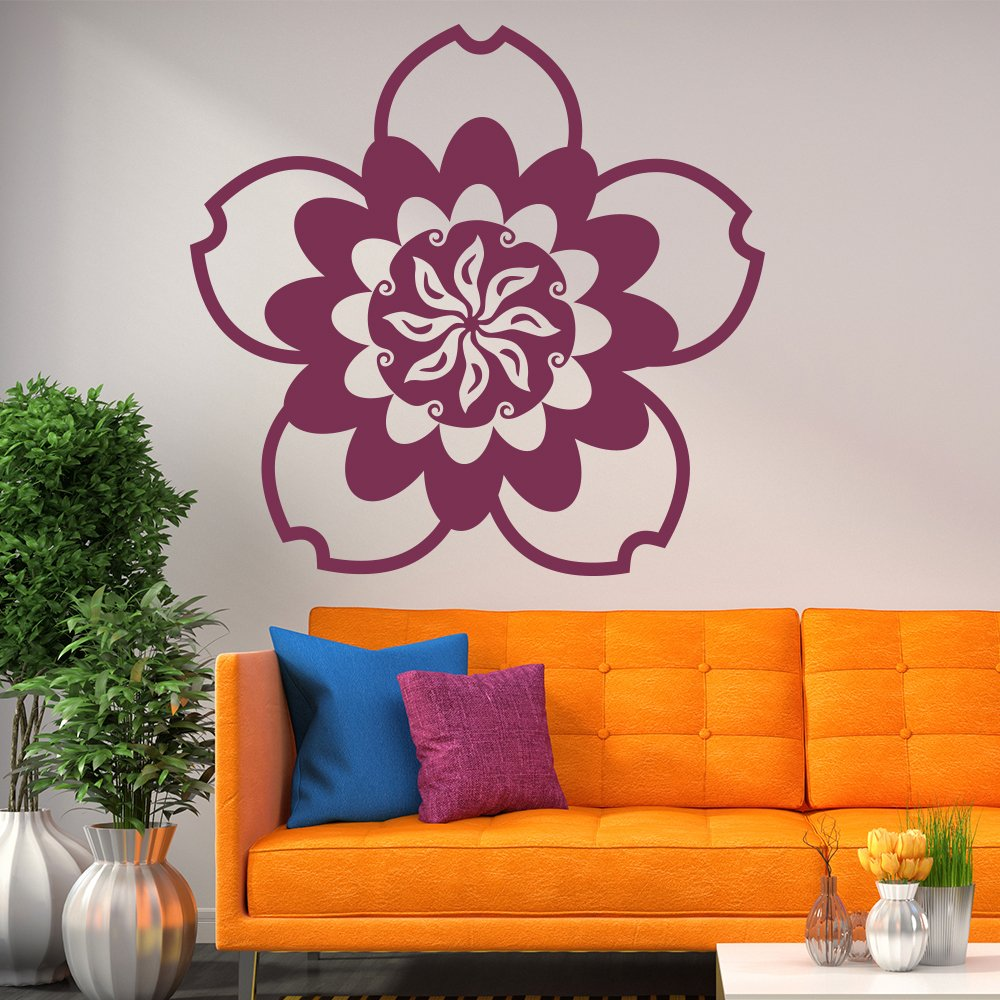 Flower Wall Sticker Decorative Floral Wall Decal Living Room Bedroom Home Decor