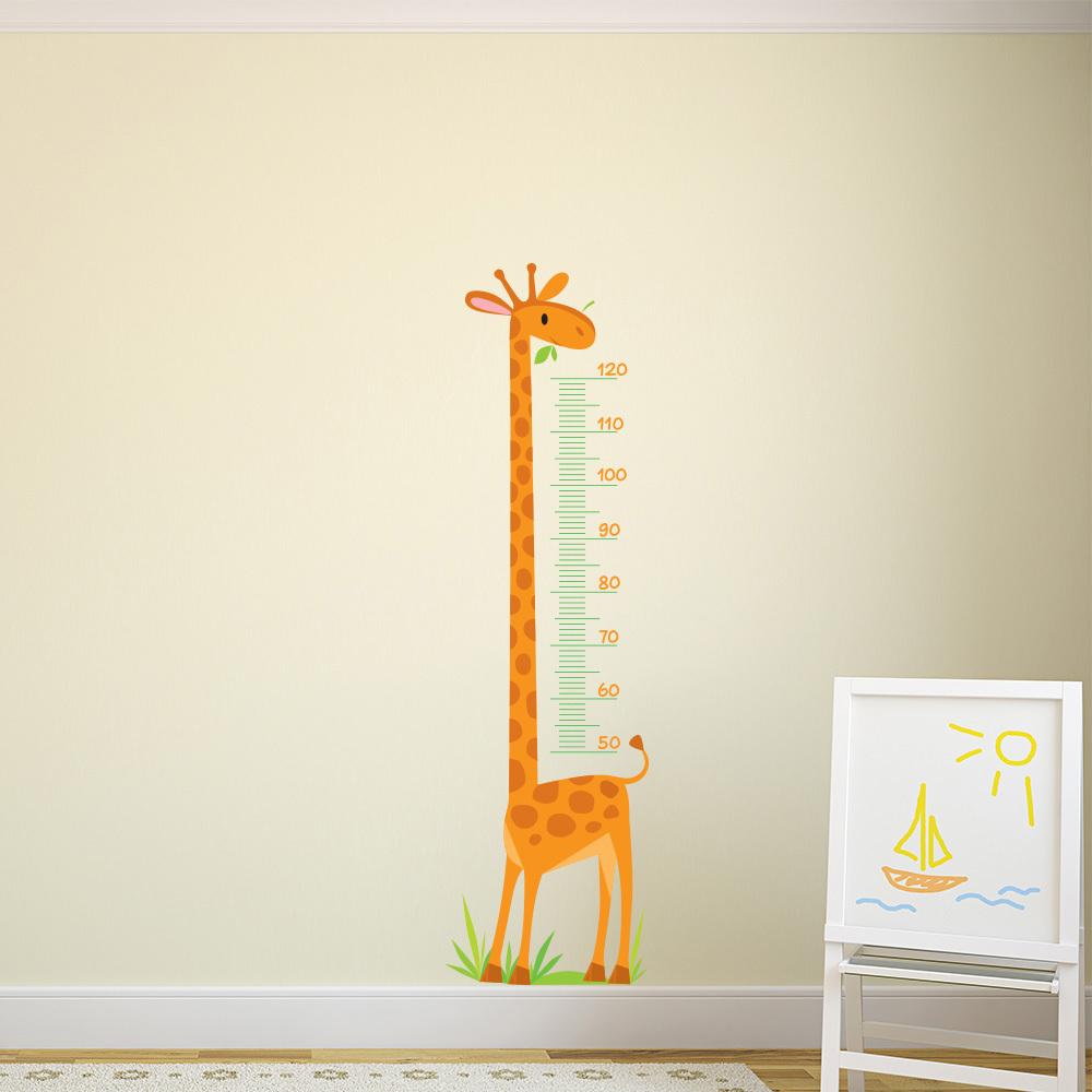 Giraffe Height Chart Wall Sticker Nursery Animals Wall Decal Kids Bedroom  Decor Part 42