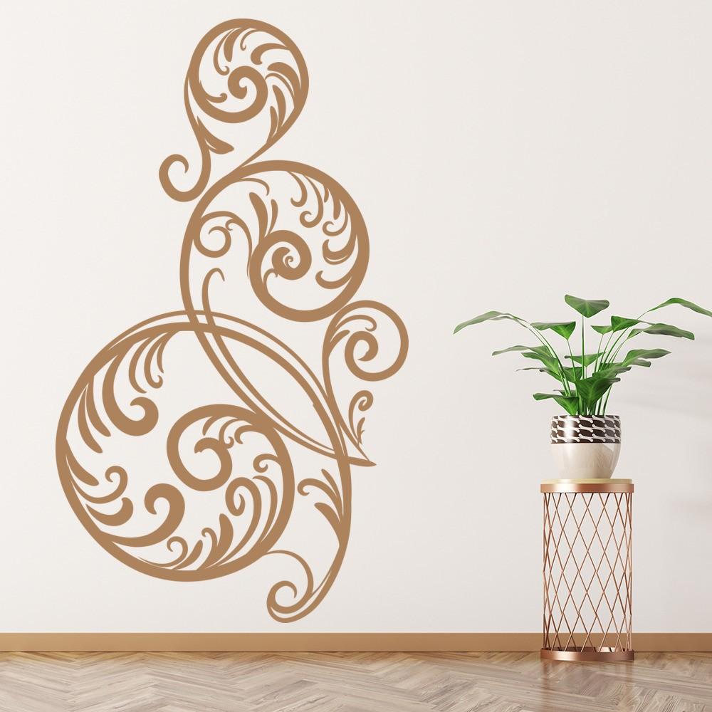 Circular Swirl Print Wall Sticker Decorative Wall Art