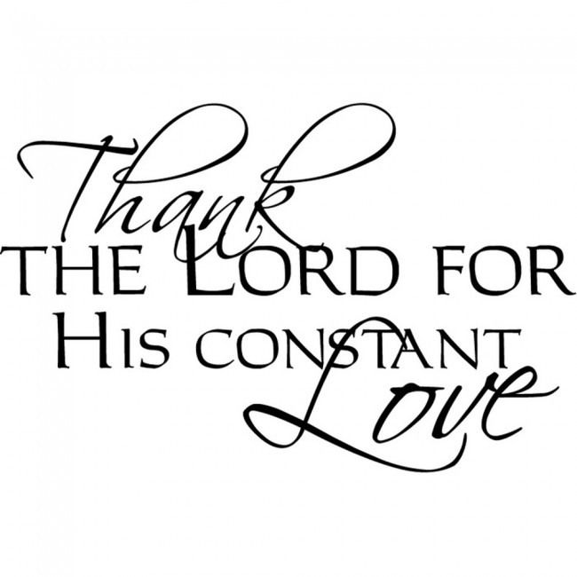 The Lord S Love Wall Decal: Thank The Lord Wall Sticker Religious Quote Wall Decal