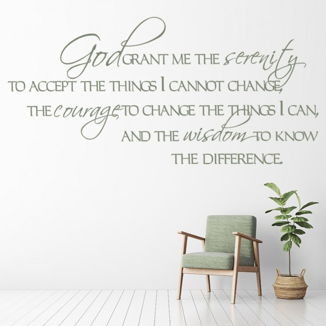 God Grant Me The Serenity Wall Sticker Bible Verse Wall Decal Religion Decor