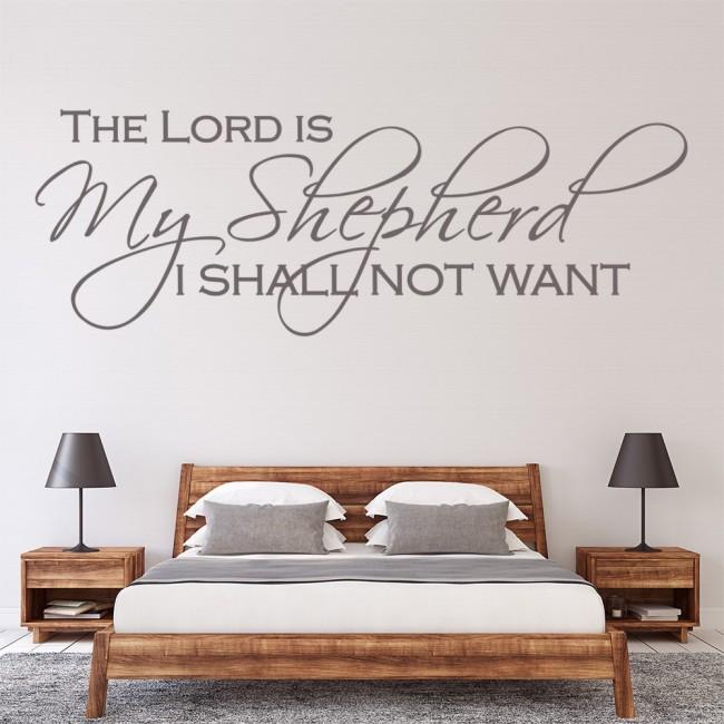 The Lord Is My Shepherd Bible Verse Wall Sticker