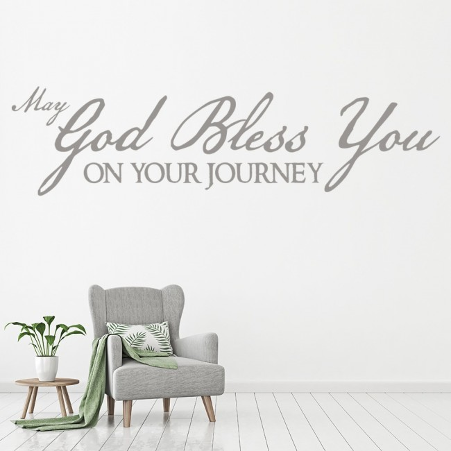 may god bless you religious quote wall sticker