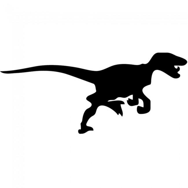 Velociraptor Jurassic Dinosaur Wall Sticker