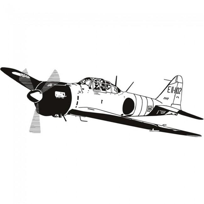 World War 2 Jet Wall Sticker Army Plane Wall Decal Boys