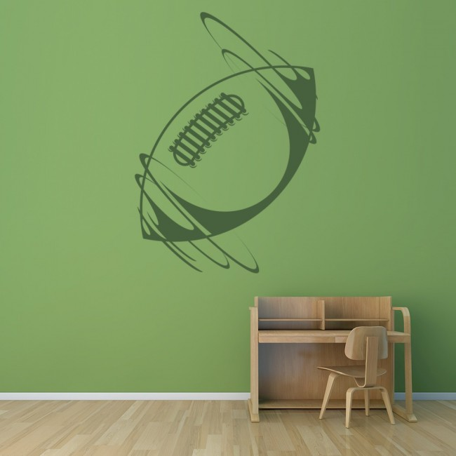 Rugby Ball Wall Sticker Sports Wall Decal Boys Bedroom