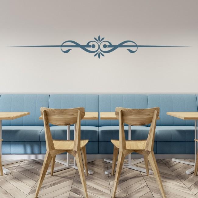 swirl line decorative headboard wall sticker