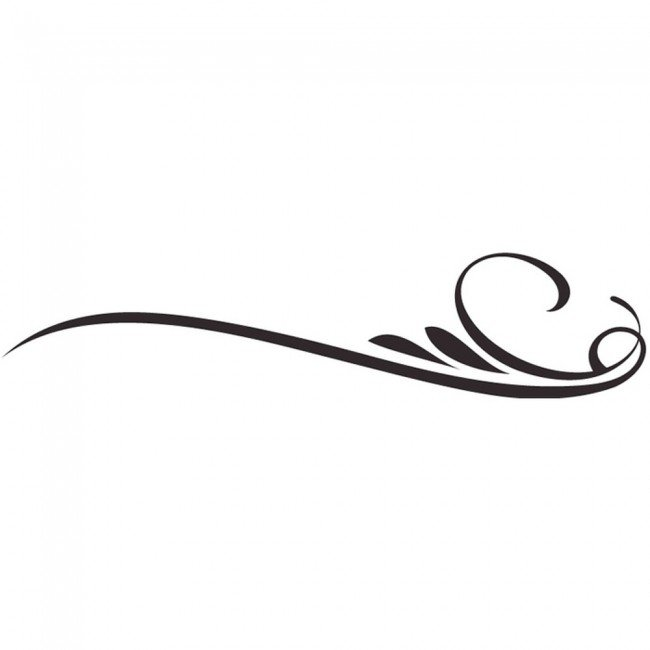 Simple Decorative Line Art : Simple decorative line clip art