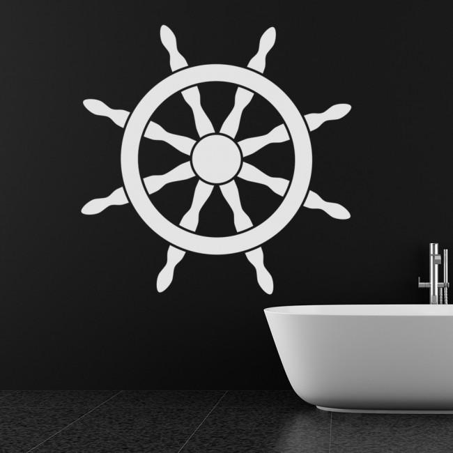 Ships Wheel Wall Sticker Nautical Wall Decal Bathroom Home Decor