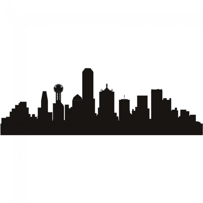 Dallas Texas Skyline Wall Sticker Skyline Wall Art
