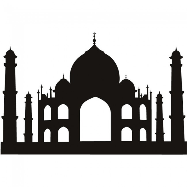 Taj Mahal Wall Stickers Landmark Wall Art