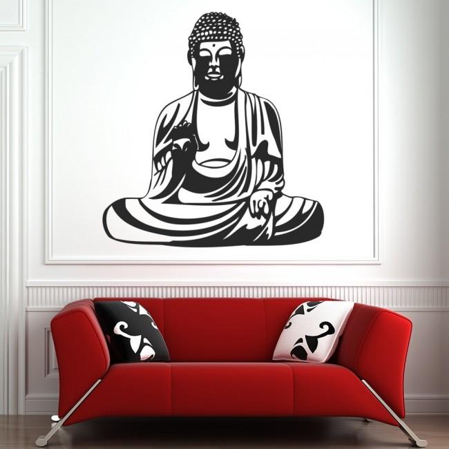 Buddha statue wall sticker india wall decal religion home decor
