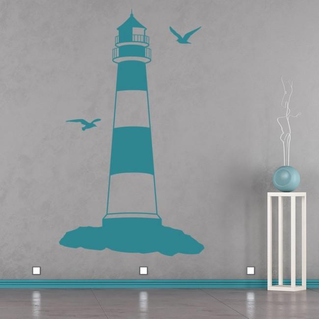 Lighthouse Wall Sticker Beach Nautical Wall Decal Bathroom Home Decor